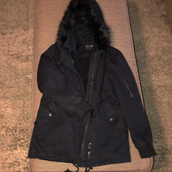 Express Jackets & Blazers - Express parka with fur hood size S